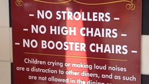 Kids not welcome: One restaurant's strong message