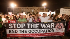 Israeli activists protest offensive in Gaza