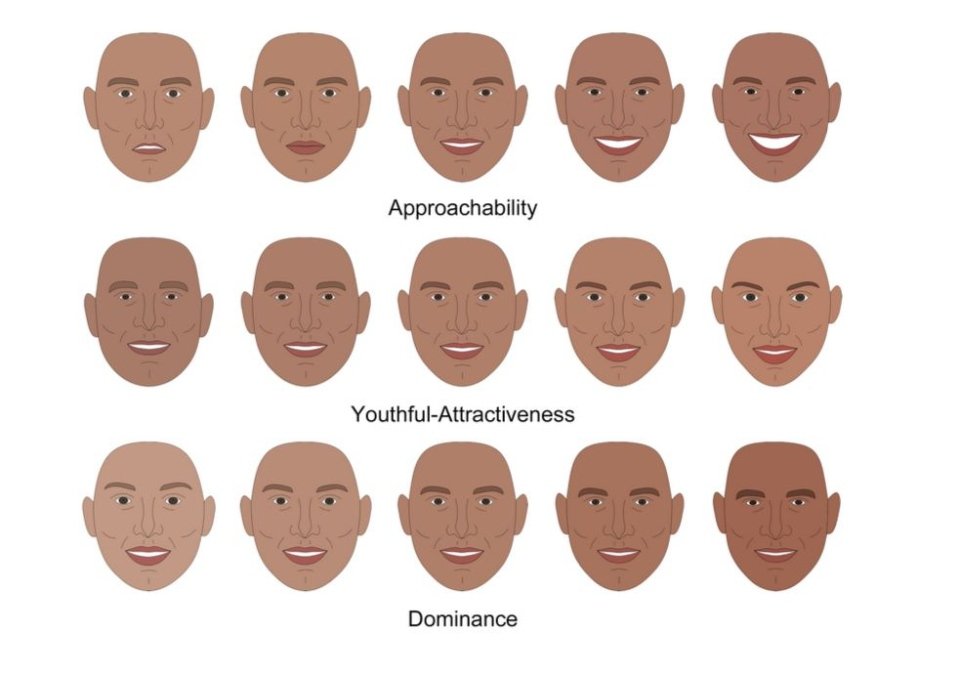 Cartoon faces created to test first impressions. (Credit: PNAS)