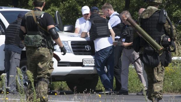 Flight MH17 crash site in Ukraine