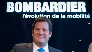 Bombardier president and CEO Pierre Beaudoin arrives at the company's annual meeting Thursday, May 1, 2014 in Montreal. (Paul Chiasson / THE CANADIAN PRESS)