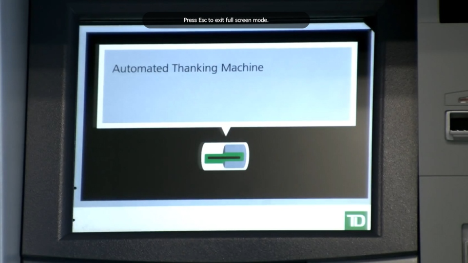 td bank machine