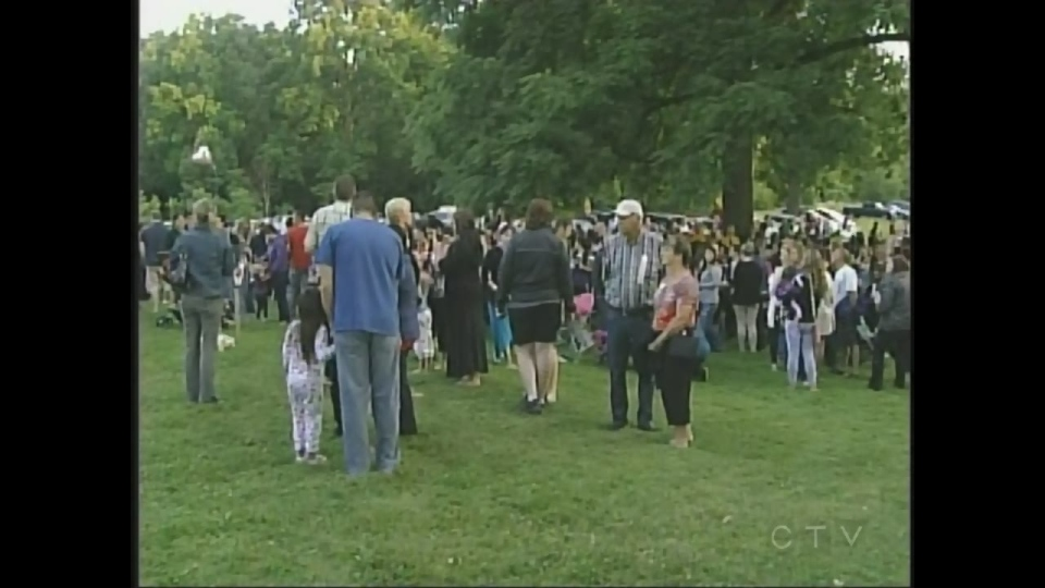 Vigil for Addison Hall