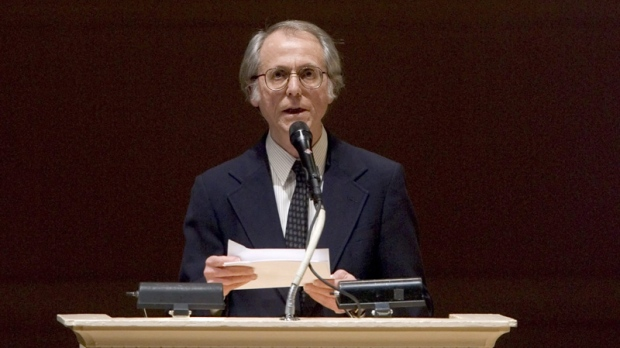 "In this April 9, 2008 file photo, author Don DeLillo speaks at ""The Time of His Life"", A Celebration of the Life of Norman Mailer tribute at Carnegie Hall in New York. (AP Photo/Stephen Chernin, file)"