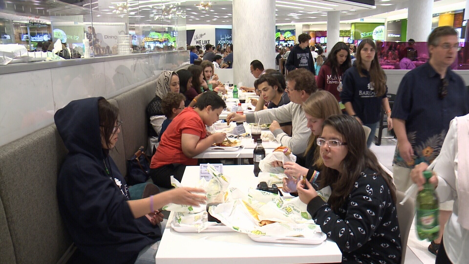 new rideau centre dining opens to the ctv ottawa news