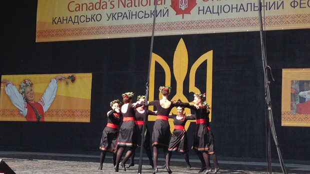 Sopilka dancers from Winnipeg perform at Canada's National Ukrainian Festival in Dauphin on Saturday, Aug. 2, 2014.