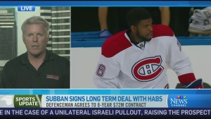 CTV News Channel: Subban inks long-term deal