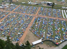 Aerial photo of Pemberton Music Festival 2014