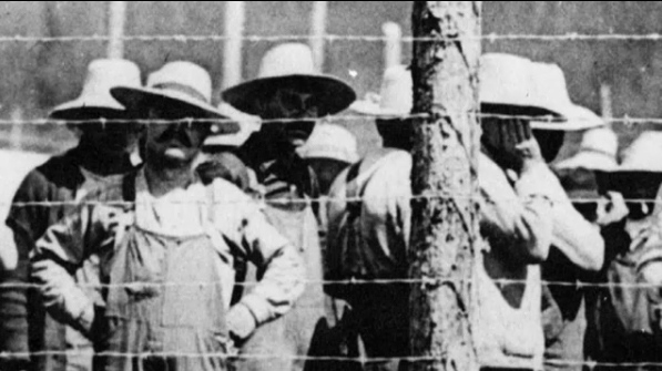 In 1914, immigrants from Austria-Hungary, Germany and the other Central Powers were rounded up and locked away in internment camps.