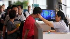 Ebola virus screening in South Korea airport