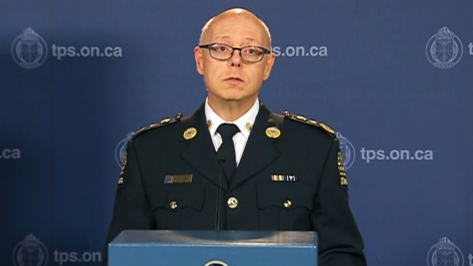 Toronto EMS Commander Roy Suthons speaks at a press conference at the two deaths at the VELD Music Festival in Toronto on Tuesday, Aug. 5, 2014.
