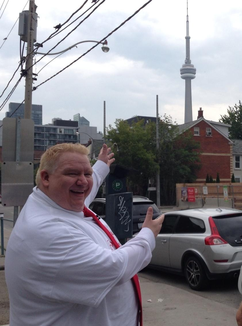 Sheldon Bergstrom of Prince Albert, Sask., has landed the role of Rob Ford in an upcoming new musical comedy about the city's embattled mayor. (Natalie Johnson / CTV Toronto)