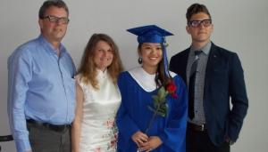 Kevin Garratt, left to right, Julia Dawn Garratt, Hannah Garratt and Simeon Garratt pose in this undated handout photo. (Garratt Family)