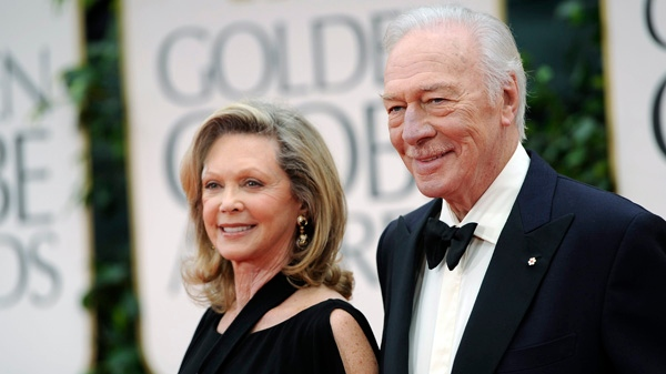 Christopher Plummer, right, and his wife, Elaine Plummer arrive at the 69th Annual Golden Globe Awards in Los Angeles on Sunday, Jan. 15, 2012. (AP / Chris Pizzello)