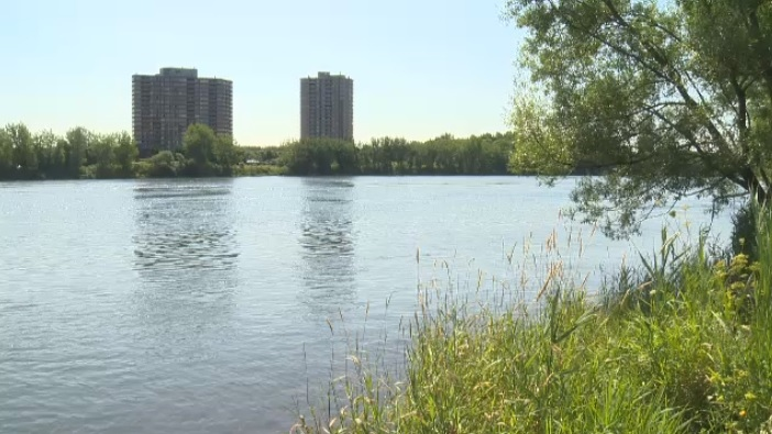 Richard Bergeron and members of the Projet Montreal team say the best spot for the proposed Verdun beach is behind the Verdun Auditorium, a 'hidden gem,' in the words of one city councillor.