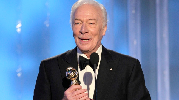 In this image released by NBC, Christopher Plummer accepts award for Best Supporting Actor for a Motion Picture for his role in