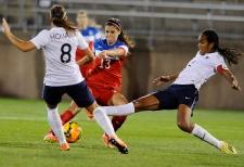 Women's soccer match in Conn.