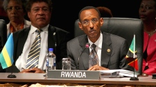 Rwanda's President Paul Kagame attends the Executive Session 1 meeting at the Commonwealth Heads of Government Meeeting in Perth, Australia, on Friday, Oct. 28, 2011. (AP / Paul Kane)