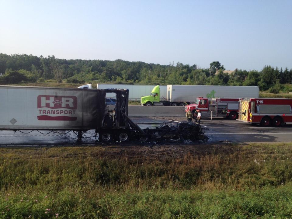 401 truck fire