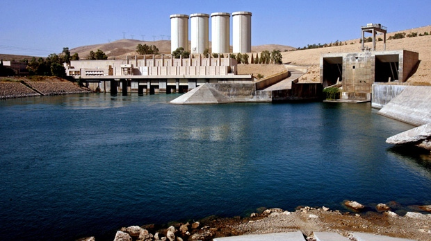 This Oct. 31, 2007 file photo, shows a general view of the dam in Mosul, 360 kilometers northwest of Baghdad, Iraq. (AP Photo/Khalid Mohammed)