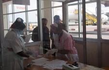 Ebola airport check in Uganda