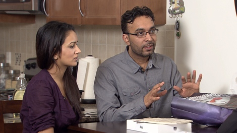 Mark Sandhu purchased an iPad 2, only to learn there was only clay inside. (CTV)
