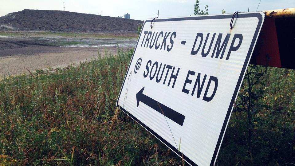 Winnipeg's Kenaston snow dump is shown on Friday, Aug. 8, 2014.