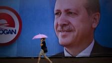 Poster for Turkey's Recep Tayyip Erdogan