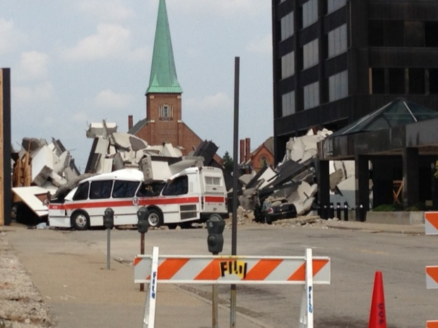 There was lots of activity in Detroit, Mich. on Friday, as production continues on the set of Batman v. Superman. (Gina Chung/ CTV Windsor)