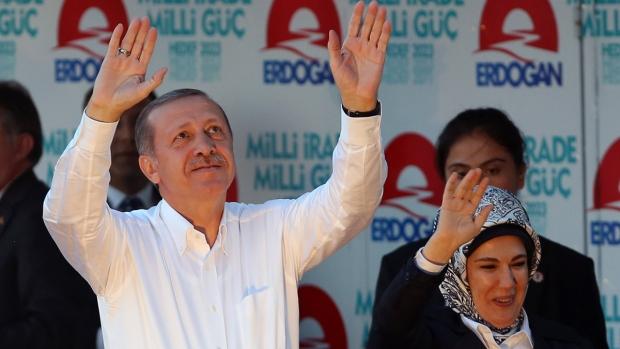 Erdogan campaigns in Turkish election