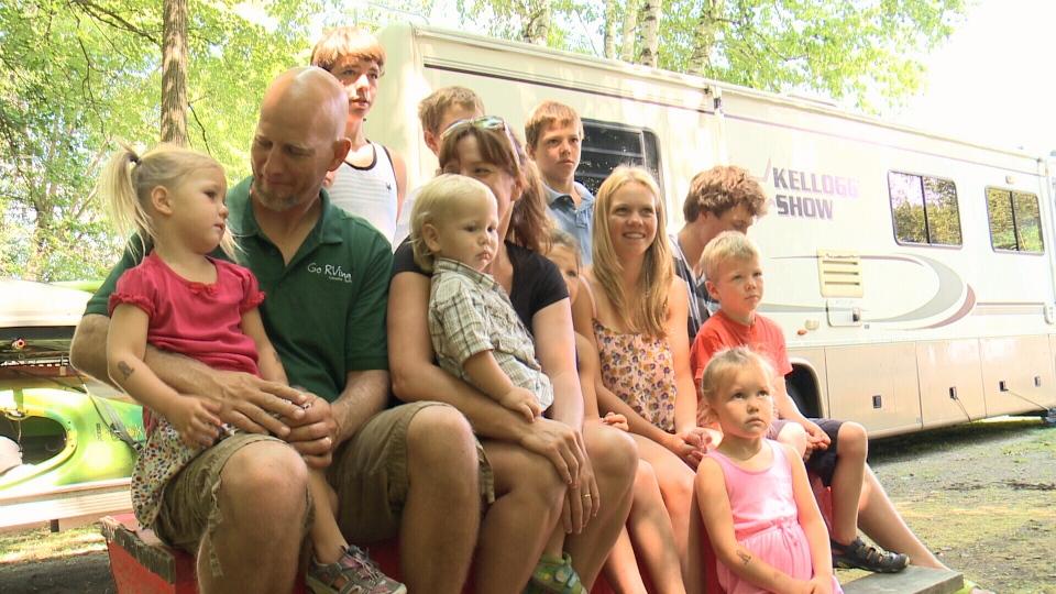 The Kellogg family at Ottawa's Poplar Grove Campground, Aug. 8, 2014.