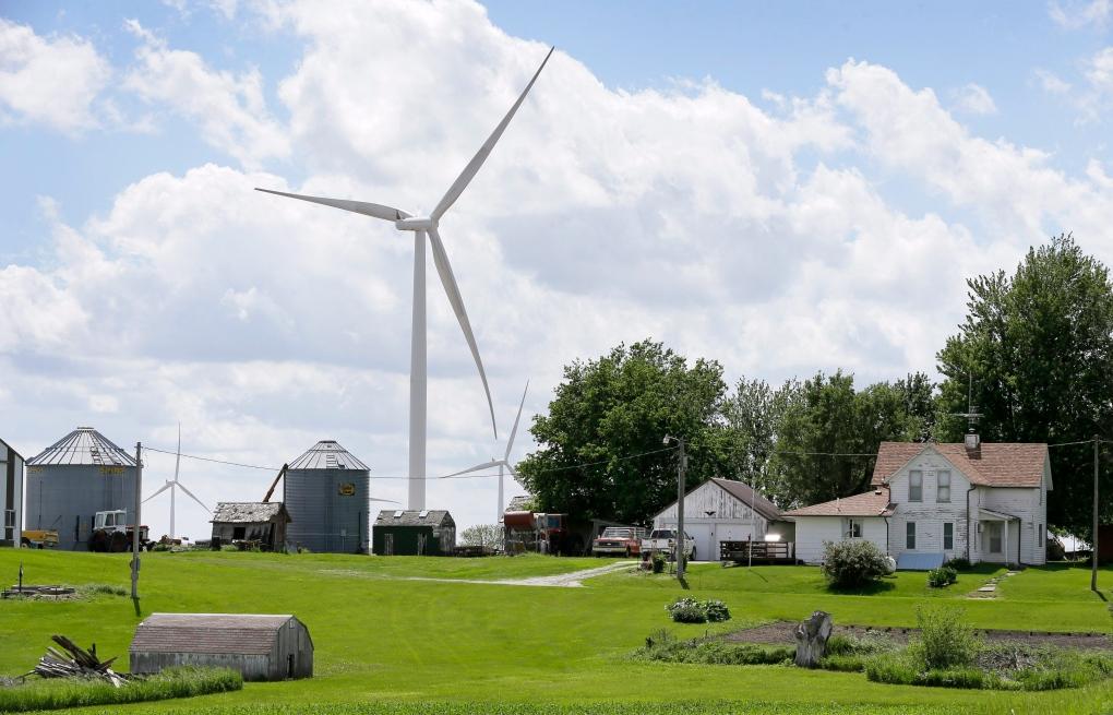 Wind turbine on Iowa farm