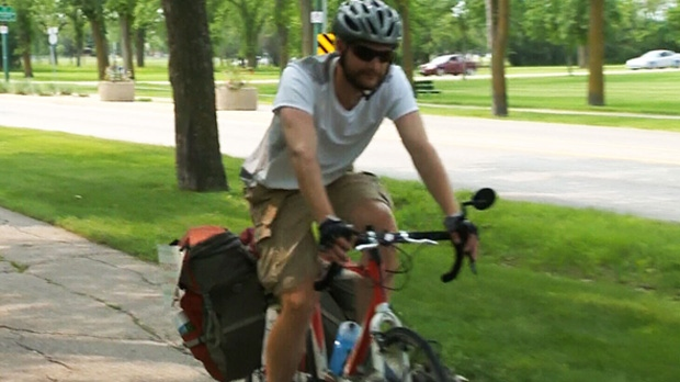 Ron Hahn is cycling across Canada to raise awareness of organ donation.