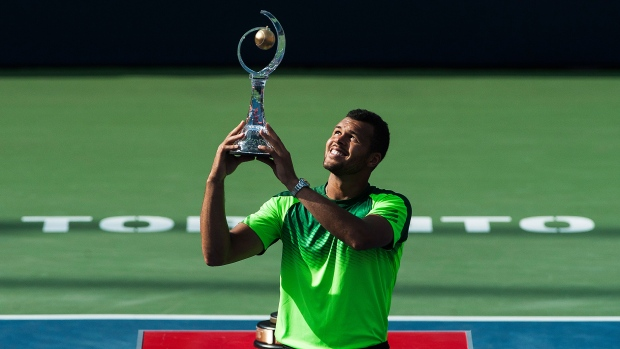 The Rogers Cup final is took place in Toronto on Aug. 10. Jo Wilfred Tsonga beat Roger Federer in two sets to claim the title, 7-5, 7-6.