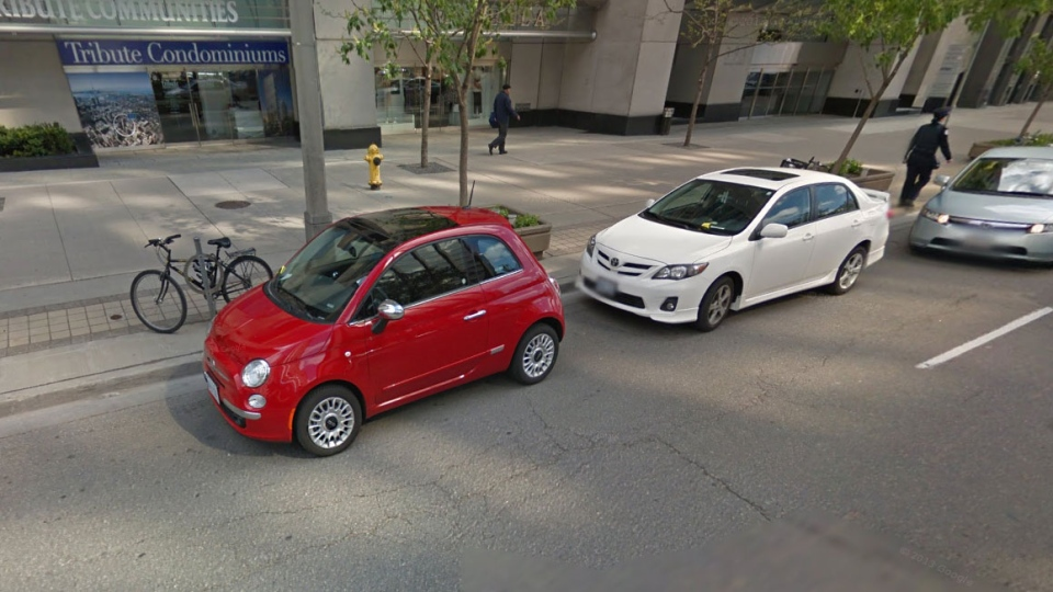 People are fined so often for parking in front of it that on Google's Street View, a white Toyota can be seen with a yellow slip under its wiper blade as a parking-enforcement officer walks away.