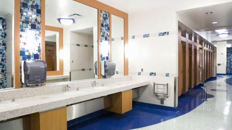 A Vancouver International Airport restroom is a top five finalist for the best washroom in Canada for 2014. (Cintas)