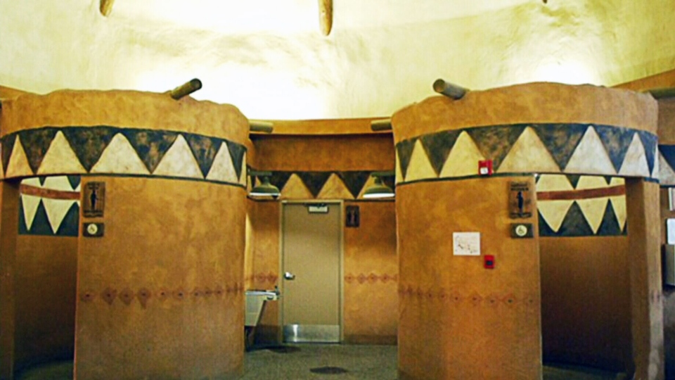 The Calgary Zoo restroom is a top five finalist for the best washroom in Canada for 2014. (Cintas)