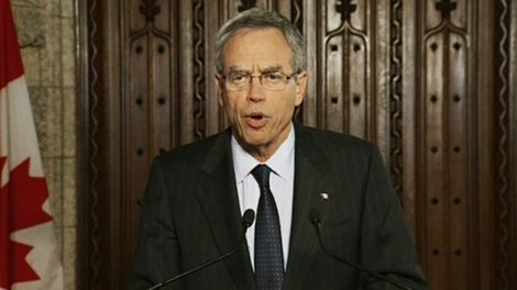 Minister of Natural Resources Joe Oliver holds a  press conference in Ottawa, Wednesday, Jan. 18, 2012.