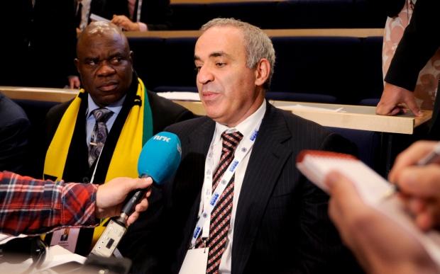 Former Chess World Champion Garry Kasparov