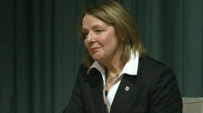 Toronto MP Peggy Nash and NDP candidate participates in a debate in Toronto on Wednesday, Jan. 18, 2012.