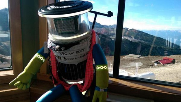 hitchBOT, the hitchhiking robot, in BC