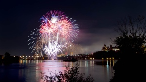 Casino du Lac-Leamy Sound of Light Portugal Fireworks on Aug. 9, 2014. (Derek Winfield/CTV Viewer)