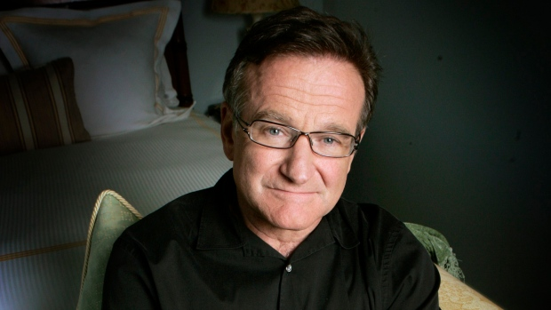 Actor and comedian Robin Williams poses to promote his film, 'License To Wed' in Santa Monica, Calif., on June 15, 2007. (AP / Reed Saxon, File)