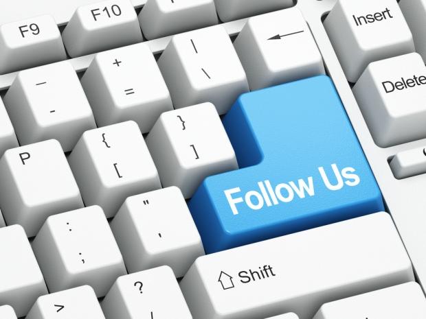 Follow button - social media