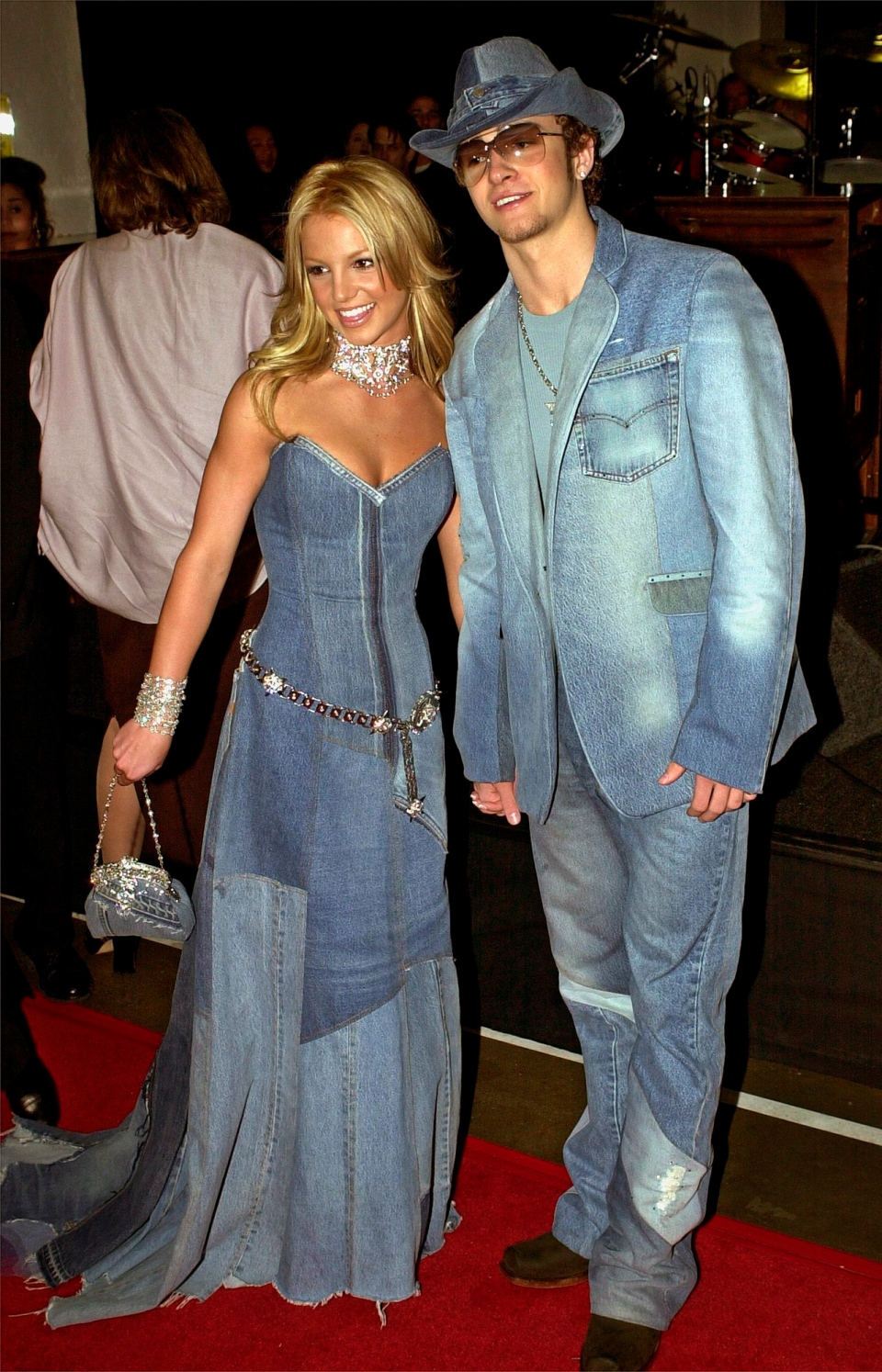 In this Jan. 8, 2001 file photo, Britney Spears and Justin Timberlake arrive at the 28th Annual American Music Awards in Los Angeles. (AP / Mark J. Terrill)