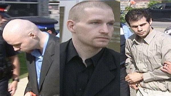 Zdenek Zvolensky, Ronald Cyr and Nashat Qahwash are accused of murder in the shooting death of Nadia Gehl.