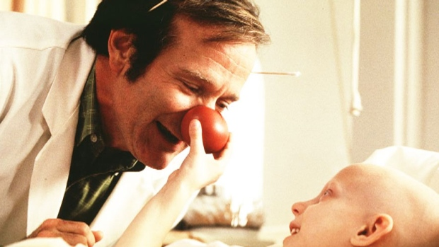 Robin Williams from the movie 'Patch Adams' in 1998. (Universal Pictures)