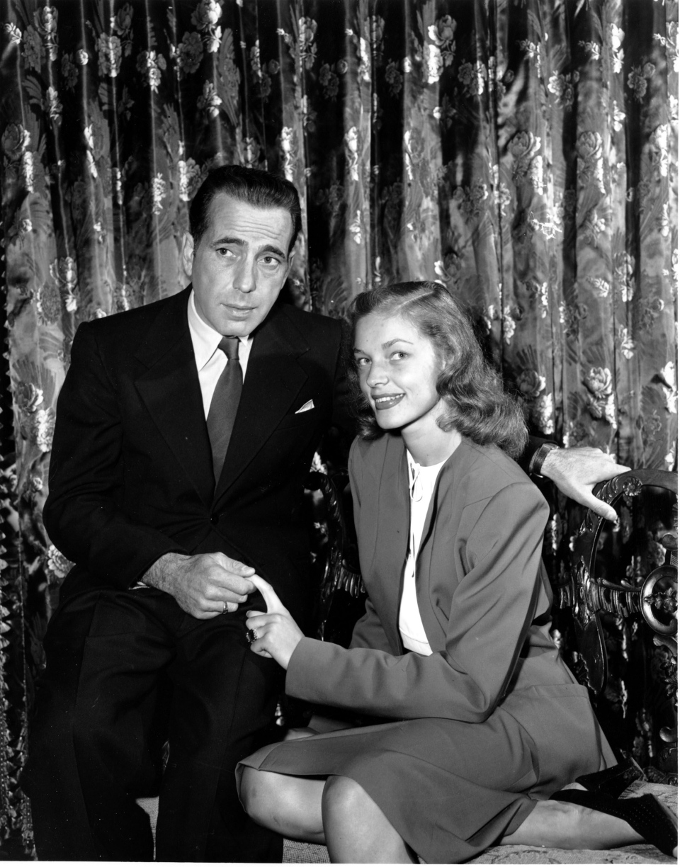 This is a May 1945 photo of actor Humphrey Bogart with his wife actress Lauren Bacall. (AP Photo)
