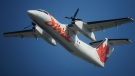 Air Canada Jazz aircraft in flight on Aug. 20, 2013. (THE CANADIAN PRESS / Mario Beauregard)