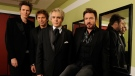 FILE - Duran Duran members John Taylor, Roger Taylor, Nick Rhodes and Simon Le Bon in Los Angeles on March 23, 2011. (AP / Chris Pizzello)